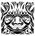 ornamental cats head vector image