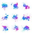 paint splat fluo vector image vector image