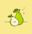 pear with slice in the side vector image