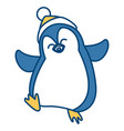 penguin christmas cartoon vector image