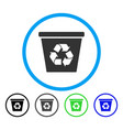 recycle bin rounded icon vector image vector image