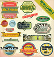 Retro premium quality labels vector | Price: 3 Credits (USD $3)