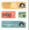 retro vinyl records background collection vector image vector image