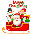 santa and christmas element for decoration vector image