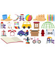 set playground tools vector image vector image