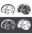 set simple icons with brain vector image