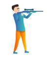 sniper sport shooting icon cartoon style vector image vector image
