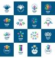 Social Group logos vector image