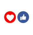 social media share icons showing approval vector image