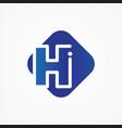 square symbol letter h design minimalist vector image vector image