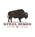 Steak House vintage Label Typography letterpress vector image vector image