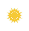 sun icon - simple element summer concept sun vector image vector image