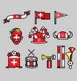 switzerland soccer supporter gear set vector image vector image
