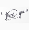 thank you lettering for decorative card vector image vector image