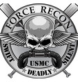 usmc force recon vector image vector image