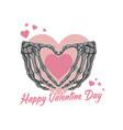 valentine love skeleton bone symbol vector image vector image