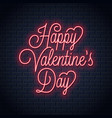 valentines day neon sign happy valentines day vector image vector image