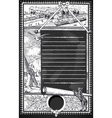 Vintage Page with Placeholder Menu on Blackboard vector image vector image