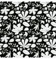 White plants on black background vector image