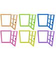 Window frames vector image