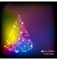 Winter holidays decoration tree vector image vector image