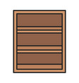 wooden shelf furniture storage icon vector image vector image