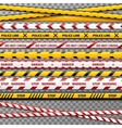 Danger caution tapes for police accident vector image