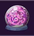 empty globe magic ball sphere glass light vector image
