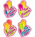 ice cream labels vector image