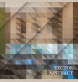 abstract geometric background from brown and gray vector image vector image