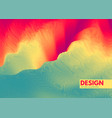 abstract wavy background with dynamic effect vector image vector image