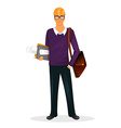 Architect man character image vector image vector image