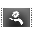arm of gift icon vector image vector image