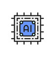artificial intelligence chip electronic circuit vector image vector image