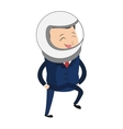 astronaut businessman icon vector image