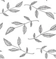black an white leaves seamless pattern background vector image vector image