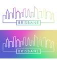 brisbane skyline colorful linear style editable vector image vector image