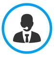 Call Center Manager Circled Icon vector image vector image