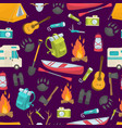 camping seamless pattern vector image vector image