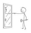 cartoon of angry man with hammer blaming yourself vector image vector image