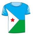 cloth flag dzhibuti vector image vector image