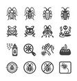 cockroach icon set vector image