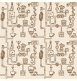 coffee factory seamless pattern vector image vector image