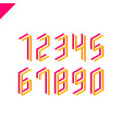 collection of the isometric sport numbers set font vector image vector image