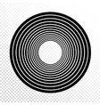concentric circles progressive line weight design vector image vector image