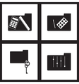Concept flat icons in black and white folders vector image vector image