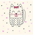 cute cat face vector image