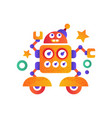 cute funny robot character artificial robotics vector image