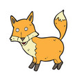 digitally drawn fox design hand drawing style vector image
