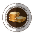emblem color white bread icon vector image